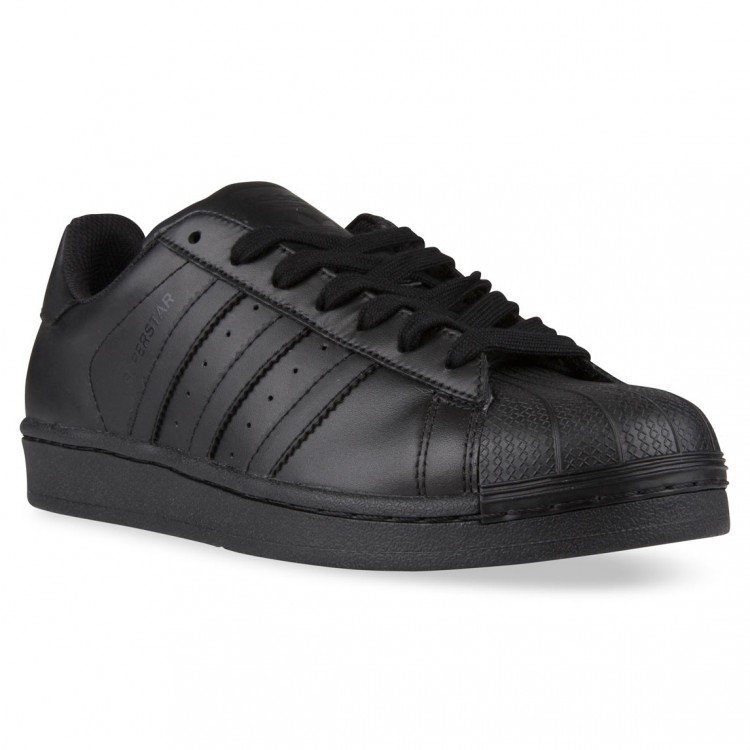 adidas superstar in black